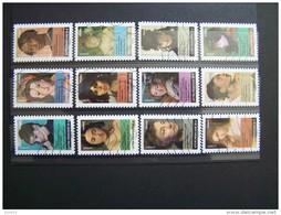 OBLITERE 2012 N°674/685 SERIE COMPLETE 12 VALEURS PORTRAITS DE FEMMES DANS LA PEINTURE AUTOCOLLANT ADHESIF - France