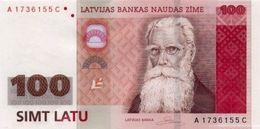 * LATVIA 100 LATU 2007 P-57a UNC [LV235a] - Lettonie