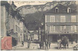 38 – Saint Laurent Du Pont – Place De La Fontaine Et Grande Rue - Saint-Laurent-du-Pont