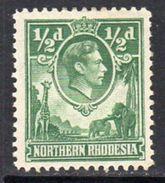 Northern Rhodesia GVI 1938-52 ½d Green Giraffe Elephant Definitive, MNH, SG 25 (BA) - Northern Rhodesia (...-1963)