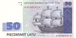 * LATVIA 50 LATU 1992 P-46a UNC [LV227a] - Latvia