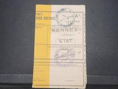 FRANCE - Ordre De Transport Par Chemin De Fer En 1919 Du Centre D' Instruction D 'Artillerie Coloniale  - L 9617 - Documents
