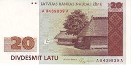 * LATVIA 20 LATU 1992 P-45a UNC [LV226a] - Latvia