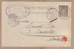 ARIEGE - SOUEIX , SOUEIX ROGALLE - ABSINTHE - COMMANDE JOSEPH DOUGNAC A PERNOD FILS , PONTARLIER - 1895 - Other Municipalities