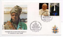 - ANGOLA - FDC S.S. GIOVANNI PAOLO II (PAPE JEAN-PAUL II) IN ANGOLA E SAO TOME - CABINDA 8.6.1992 - - Popes