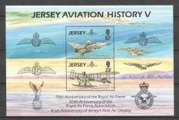 Jersey 1993 Mi Block 7 MNH AIRPLANES - Airplanes