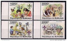 Burundi 2011 Mi 2202-2205 MNH SCOUTING - Movimiento Scout