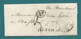 Pas De Calais - Hesdin Pour Arras. CàD Type 12 + Taxe 3 - Marcophilie (Lettres)