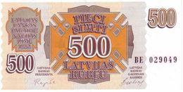 * LATVIA 500 RUBLU 1992 P-42 UNC [LV223a] - Lettonie