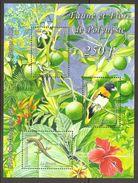 Polynesie Francaise 2013 Flore Faune Flora Fauna Michel No. Bl. 39 (1219-21) MNH Postfrisch Neuf - Französisch-Polynesien
