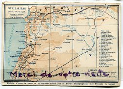- SYRIE - LIBAN - Damas Carte Touristique, édité Par Le Bureau Topographique Des Troupes Du Levant,  Non écrite,  Scans. - Syrie