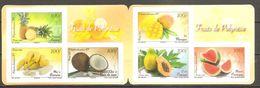 Polynesie Francaise 2013 Fruits Früchte Michel No. 1222-27 MH Carnet MNH Postfrisch Neuf Autocollant Sk Pas Plié ! - Französisch-Polynesien