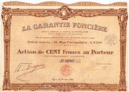 Ancienne Action - La Garantie Foncière - Titre De 1929 - - Banque & Assurance