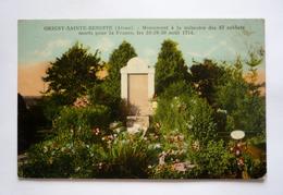 02- ORIGNY-SAINTE-BENOITE - Monument à La Mémoire Des 87 Soldats Morts Pour La France Les 28-29-30 Août 1914 - Other Municipalities