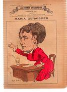 MARIA DERAISMES.Les Hommes D'aujourd'hui.Dessins De GILL.3e Année.-n°103.(vers 1880) 4 Pages. - Livres, BD, Revues
