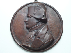 Plaque NAPOLEON ( Napoléon ) Bronze +/- 850 Gram / Size +/- 17,5 Cm. ( Ne Pas Signé Et En Bon état / Voir Photo Svp ) ! - Bronzes