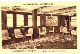 CPA N°4659 - MESSAGERIES MARITIMES - MARECHAL JOFFRE - 1ere CLASSE - LE SALON MUSIQUE - Paquebots