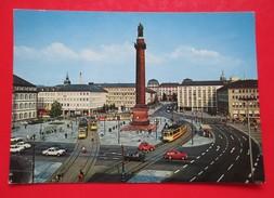 Postcard-Darmstadt,Luisenplatz Mit Langer Ludwig - Darmstadt