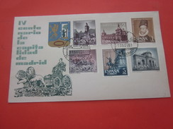 Centenario Capitalidad  Madrid Espagne Espana République--Juan Carlos I--Marcophilie-Lettre - Document Avion-By Air-mail - 1961-70 Briefe U. Dokumente