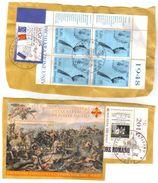 Due Frammenti Con Francobolli Interessanti - Used Stamps