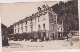 Cpa,isère,uriage Les Bains,prés De Grenoble,le Central Hotel ,avec Femme De Ménage à La Fenètre,histoire Du Village,38 - Uriage