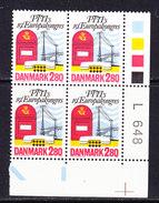 Denmark 1986 PTTI European Congress 1v Bl Of 4 (corner, Traffic Lights) ** Mnh (36533D) - Idées Européennes