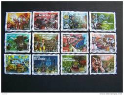 OBLITERE ANNEE 2011 N°578/589 COMPLETE 2ème SERIE FETES ET TRADITIONS DE NOS REGIONS - France