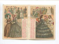 POUR DOCUMENTATION CHROMO CALENDRIER 1885 APPEL  MODE FEMININE  1840 A 1861  MAI JUIN JUILLET AOUT INCOMPLET - Calendriers