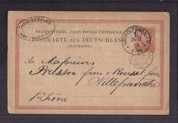 CPA ENTIER POSTAL 1880 Postkarte Commerciale RAPPOLTSWEILER 1 Ch STEINER Ribeauvillé Vers Villefranche S/ Rhône - Deutschland