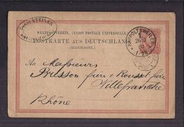 CPA ENTIER POSTAL 1880 Postkarte Commerciale RAPPOLTSWEILER 1 Ch STEINER Ribeauvillé Vers Villefranche S/ Rhône - Allemagne