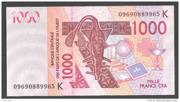 COSTA D´AVORIO ( West African States) 1000 Francs 2003  - P715Ka - UNC - Costa D'Avorio