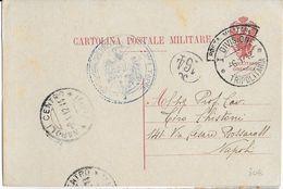 TRIPOLITAINE - 1912 - CARTE ENTIER De La POSTE MILITAIRE => NAPOLI - Tripolitania