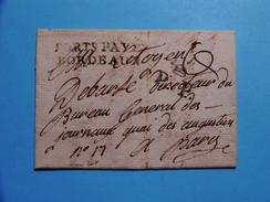 LETTRE AN 6 PORTS PAYES BORDEAUX + PP BONNET PHRYGIEN TB/TTB / RARE DISPERSION TRES BELLE COLLECTION MARQUES POSTALES - 1801-1848: Précurseurs XIX