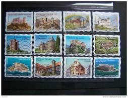 OBLITERE 2012 SERIE N°714/725 SERIE COMPLETE (12 Val) CHATEAUX ET DEMEURES HISTORIQUES DE NOS REGIONS - France