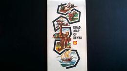 Road Map Of Kenya - Year 1968 - Vieille Carte Routière Du Kenya - Année 1968. Publicité  Shell. - Cartes Routières