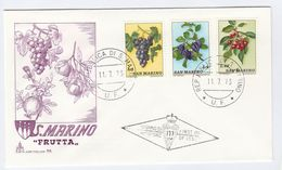 SAN MARINO FDC Stamps FRUIT  GRAPES CHERRIES Etc Cover - Fruits
