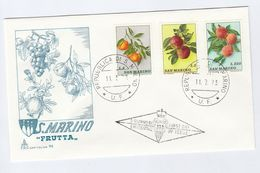 SAN MARINO FDC Stamps FRUIT PEACHES APPLES  Etc Cover Apple - Fruits
