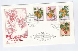 SAN MARINO FDC Stamps FRUIT STRAWBERRIES  PEARS Etc Cover Strawberry - Fruits
