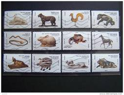 OBLITERE 2013 N°775/786  SERIE COMPLETE 12 VALEURS LES ANIMAUX DANS L'ART AUTOCOLLANT ADHESIF - France