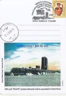 63647- SKATE- FIRST SUBMARIN SURFACED AT THE NORTH POLE, SPECIAL POSTCARD, 2009, ROMANIA - Other Means Of Transport