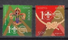 BELARUS Yvert 587-8  ** MNH (2007) – Europe CEPT : Scouting - Belarus