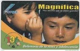 BOLIVIA - Defensoria De La Ninez Y Adolescencia, Cotas Telecard 6 Bs., 02/03, Used - Bolivia