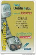 BOLIVIA - Fonos Clasificados, Cotas Telecard Bs. 6, 11/01, Used - Bolivia