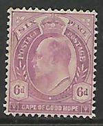 S.Africa, Natal, Edward VII, 6d, MH * - Afrique Du Sud (...-1961)