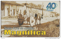 BOLIVIA - 40 Years Of Cotas/Carreton Tipico En La Alameda Junin 1958, Cotas Telecard Bs. 6, 01/01, Used - Bolivia
