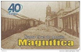 BOLIVIA - 40 Years Of Cotas/Vista De La Calle Ayacucho En Los Anos 50, Cotas Telecard Bs. 6, 01/01, Used - Bolivia