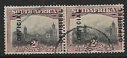 S.Africa, 1928, 2d Grey & Maroon, 19 Mm Opt Displace To Right, Used, Toned - South Africa (...-1961)