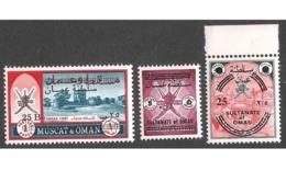 CV:€406.40 OMAN 1972 Fort Castle Provisional Surcharge Re-valued Overprint SET Mnh - Oman