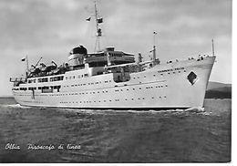 643 - 1954 - Campania Felix - Piroscafo Di Linea - Olbia - - Dampfer