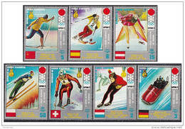 7212 Guinea Equatoriale 1972 XI Olimpiadi Invernali Sapporo  Medaglie D ´ Oro - Full Set Nuovo MNH - Gold Medal Winners - Guinea Equatoriale